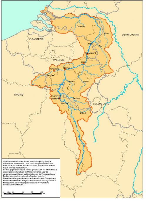 Carte de l'Accord international sur la Meuse