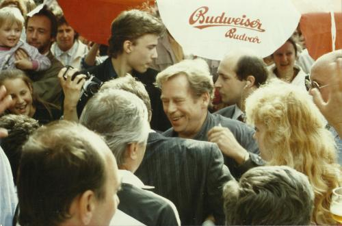 Havel, Prague juillet 1990